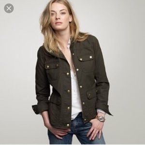 J Crew Downtown Field Jacket In Mossy Green
